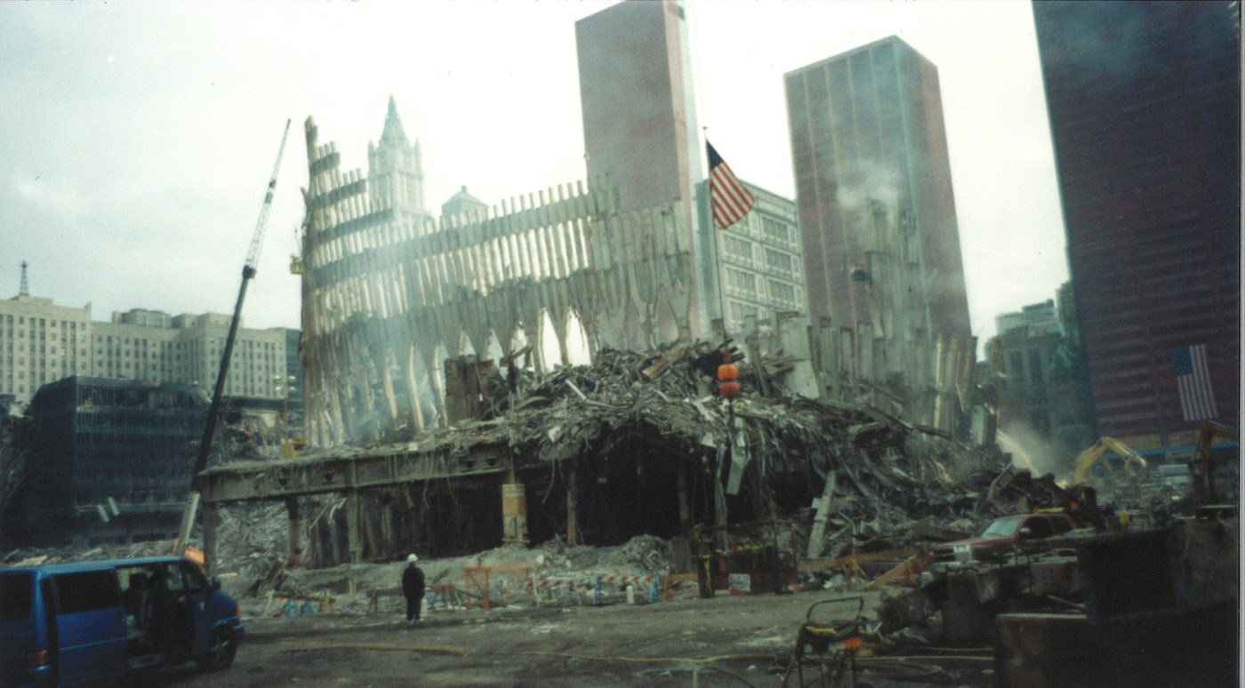 View of the Falling Frame of the WTC