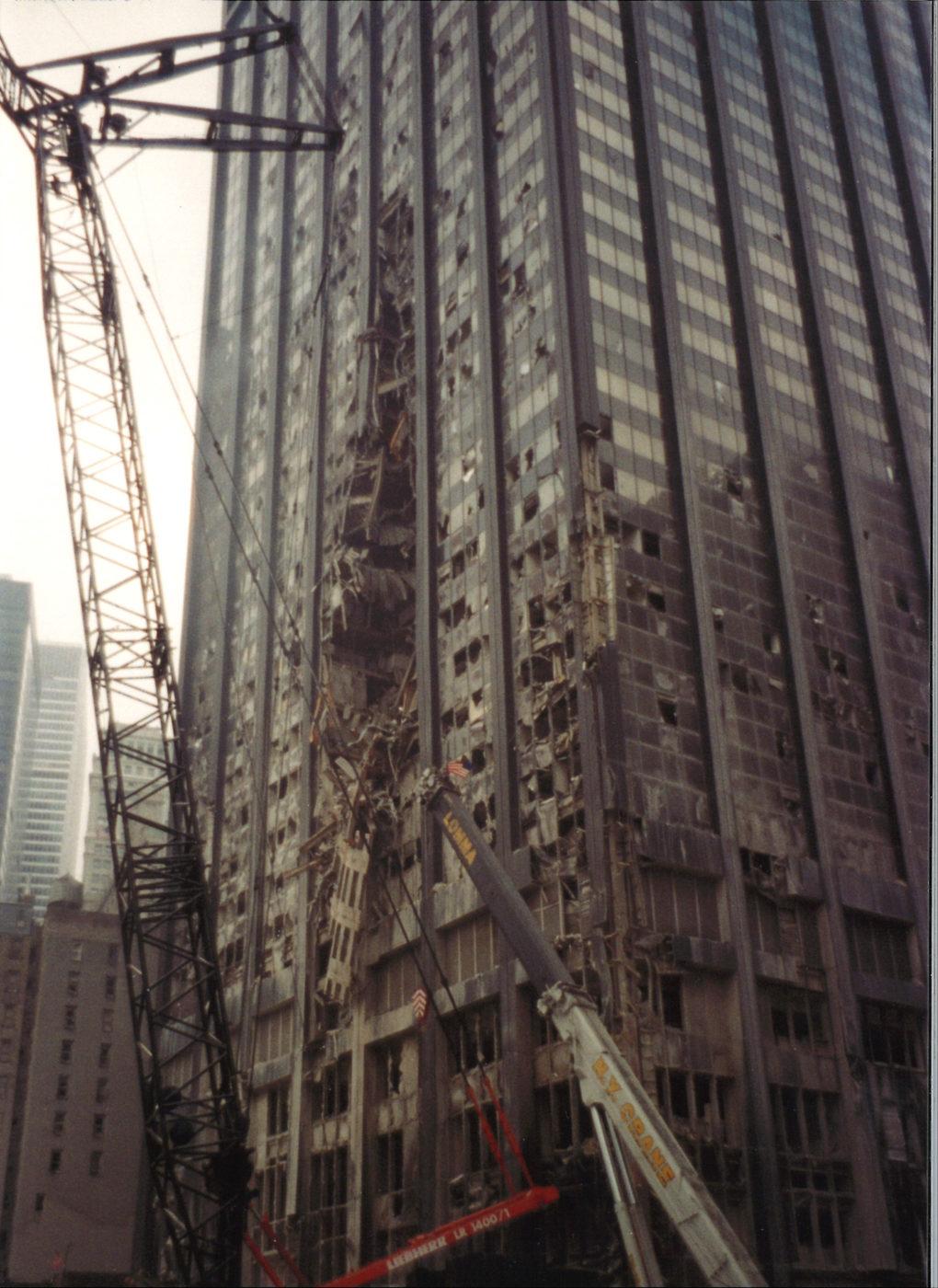 Windows of Deutsche Bank Building Blown Out