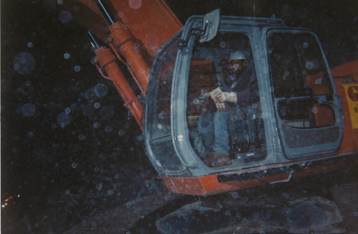 Worker at Night at Ground Zero