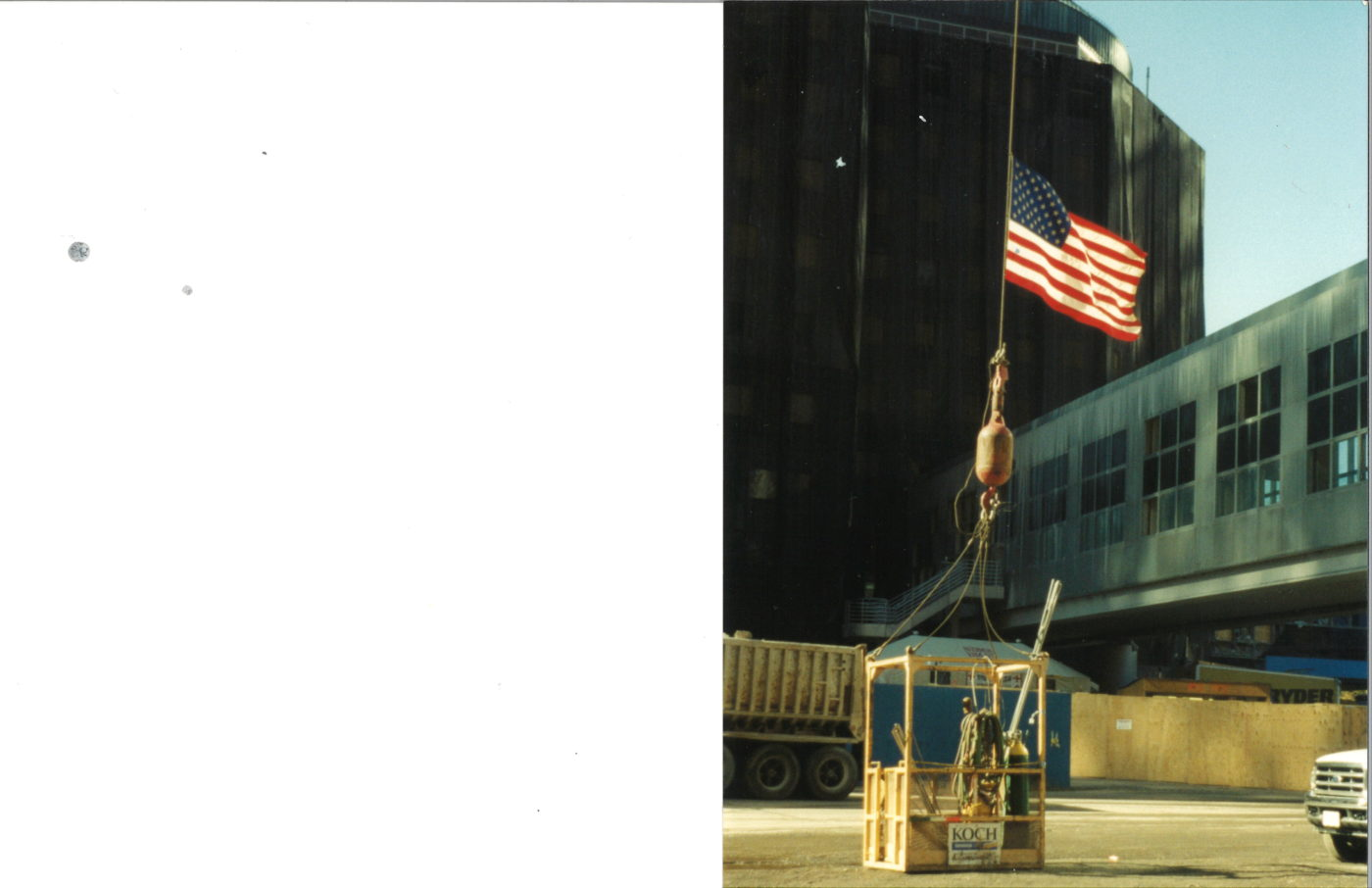 Worker Bucket with American Flag