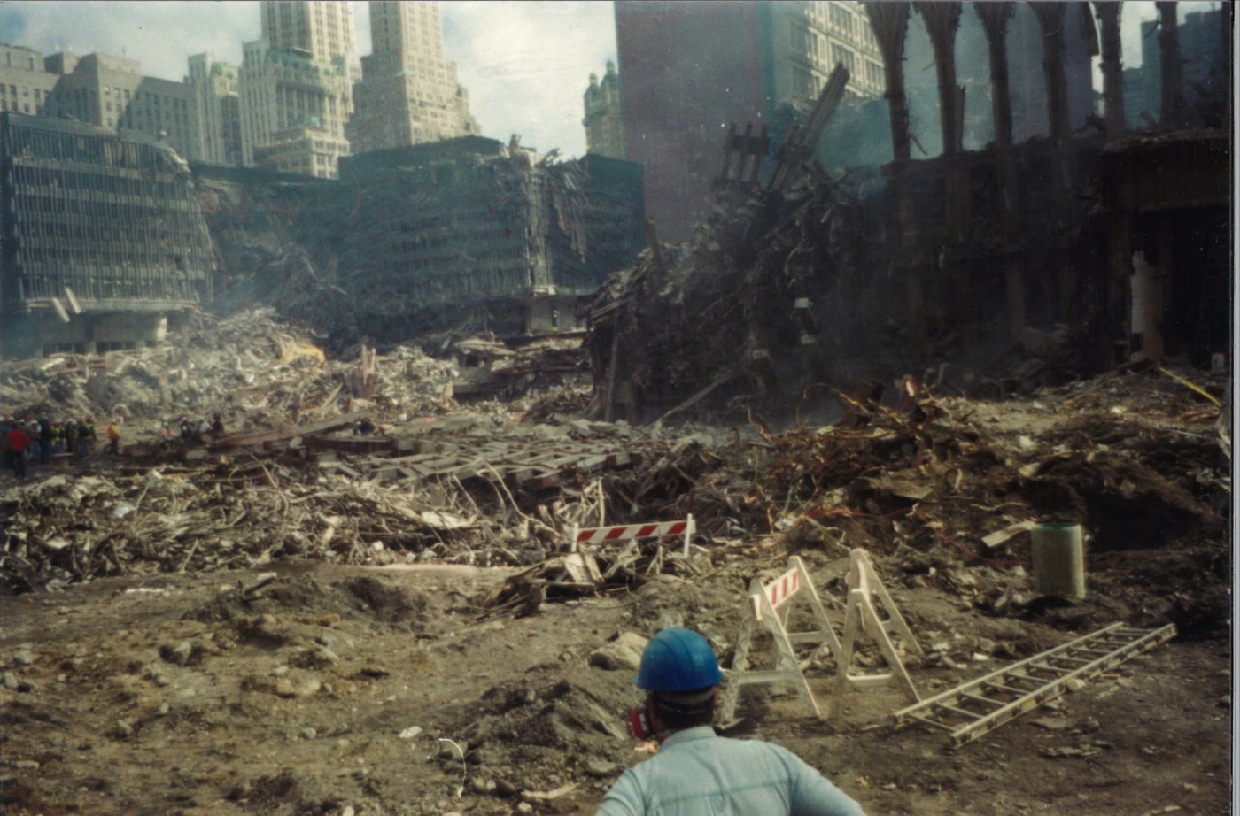 Worker Looking at the Desbris on Ground Zero