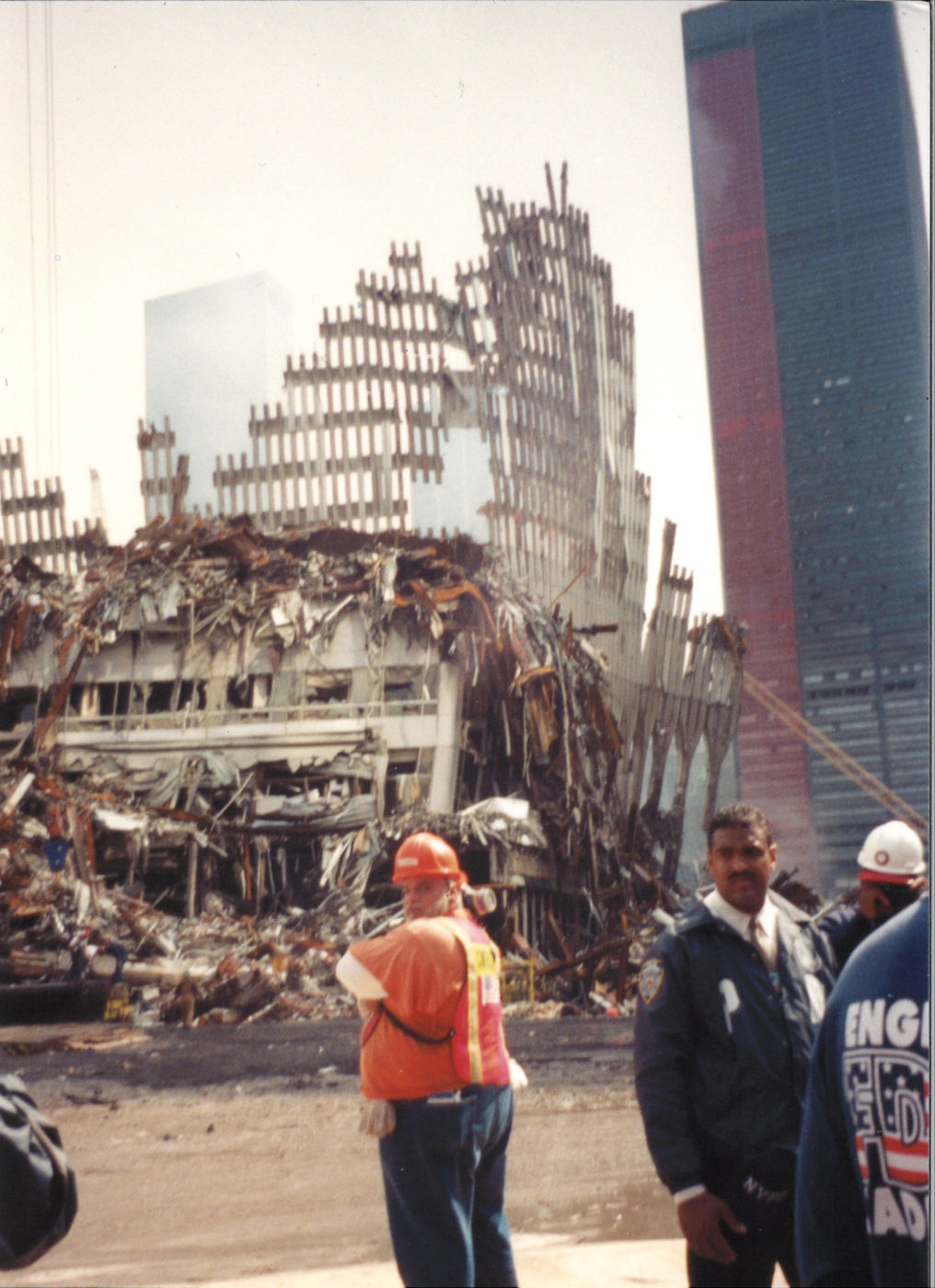 Workers and Fire Fighters at Ground Zero