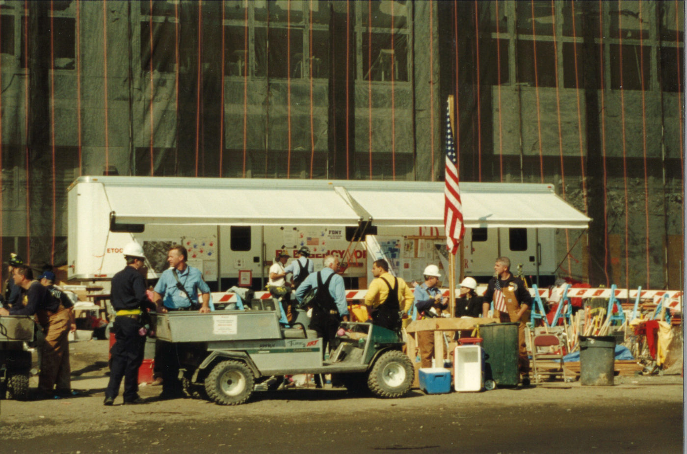 Workers at Ground Zero During the Day