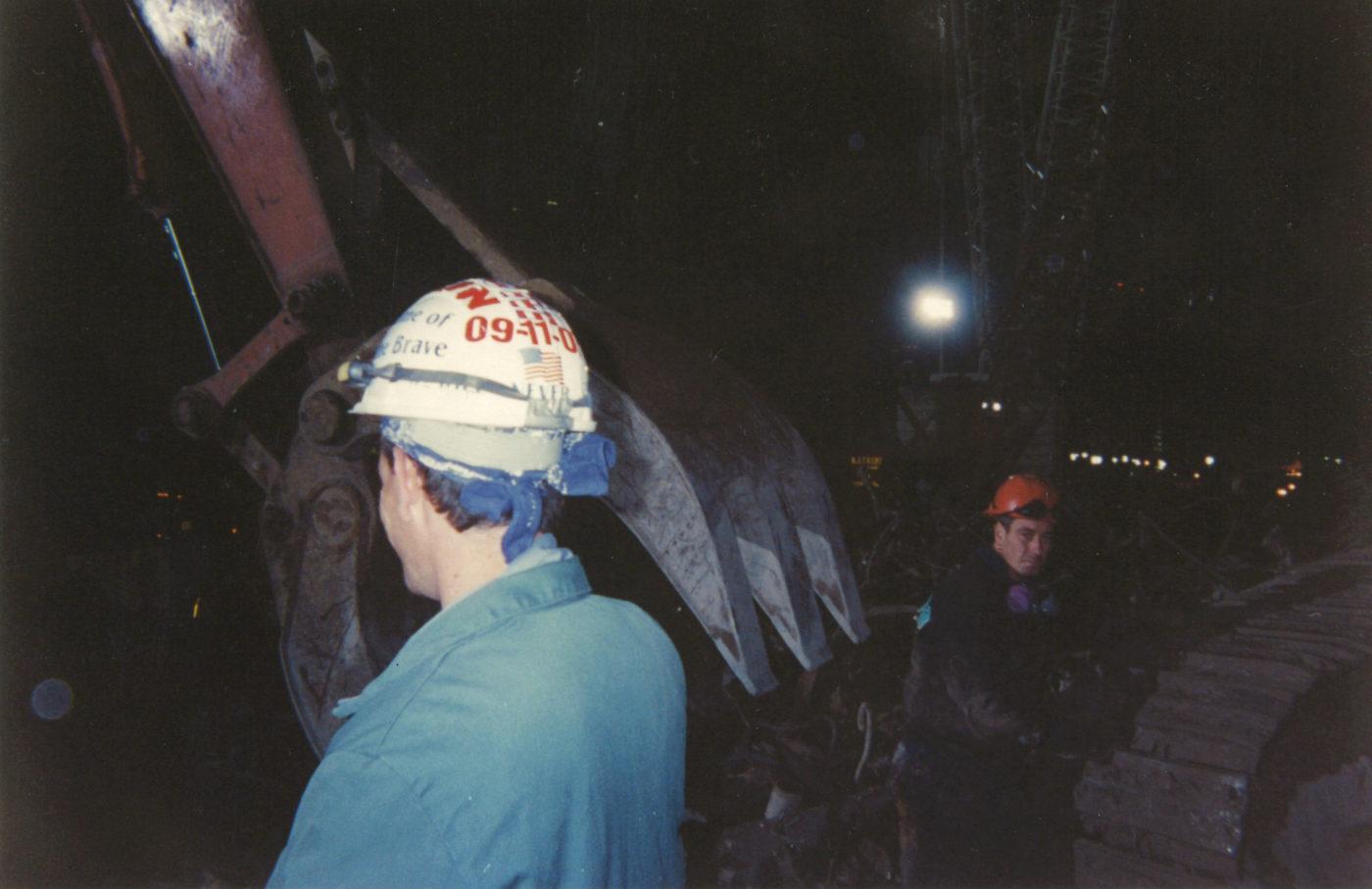 Workers at night at Ground Zero