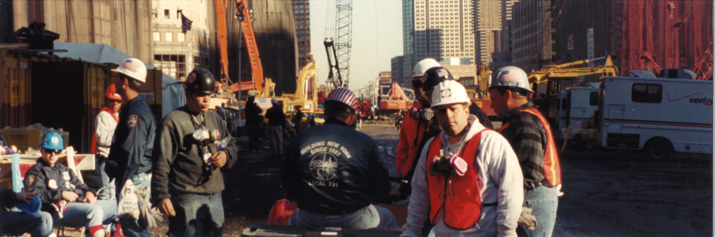 Workers from Local 731 Standing together at Ground Zero