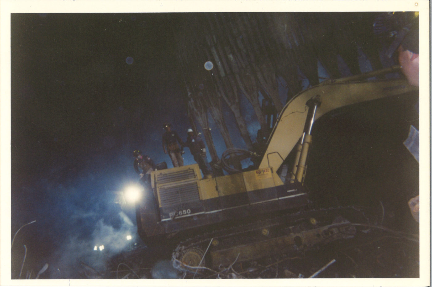 Workers on the Pile