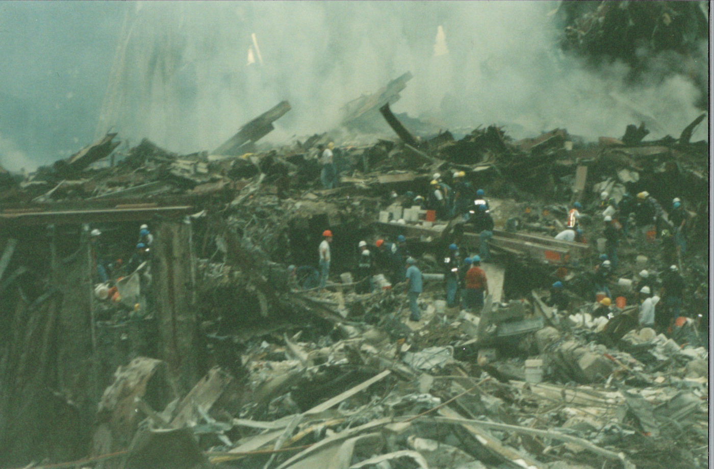 Workers on the Rubble from the WTC