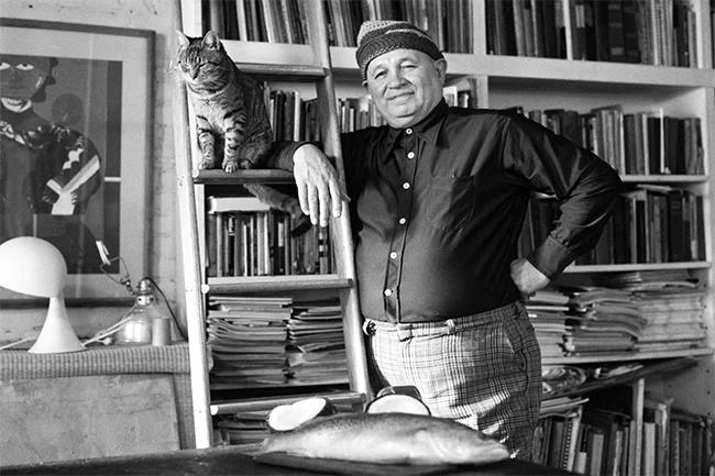 Romare Bearden in his Canal Street studio, 1976. (Photo by Blaine Waller) via Queen City Nerve.