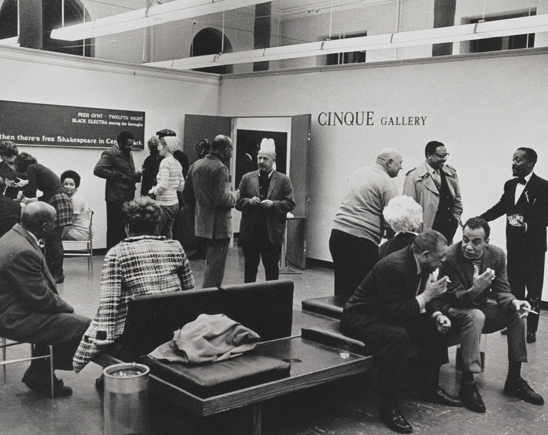 Inaugural year reception at Cinque Gallery, 1969. Cinque Gallery records, 1959-2010. Archives of American Art, Smithsonian Institution.
