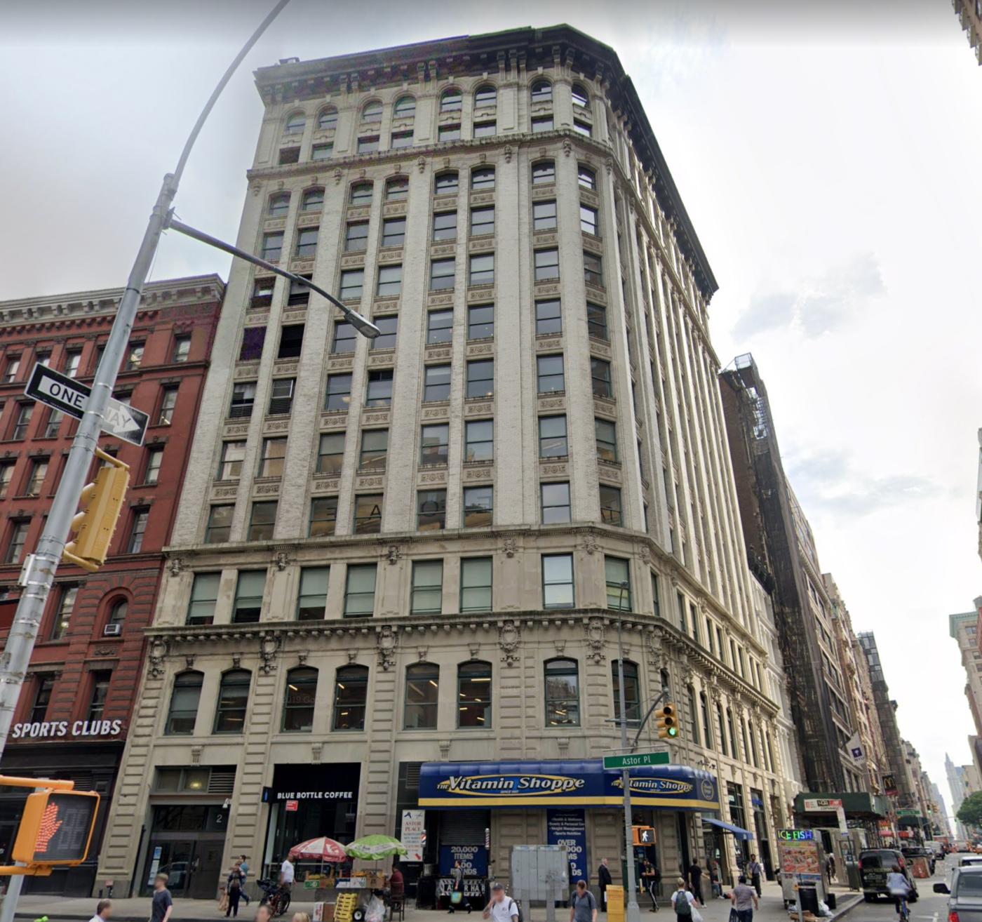 2 Astor Place circa 2019 via Google Maps.