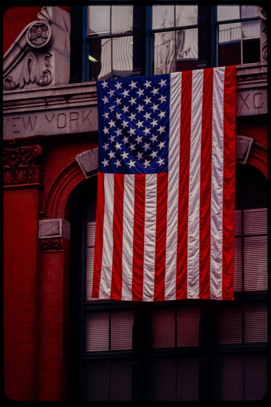 (Now Former) New York Mercantile Exchange at 2-6 Harrison Street Displaying an American Flag.jpg