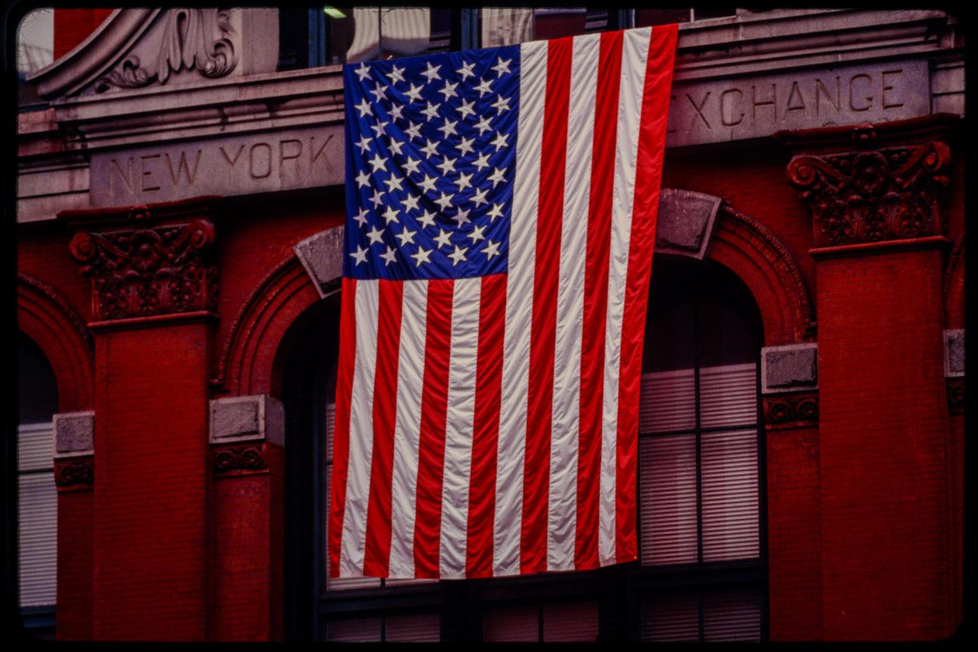 (Now Former) New York Mercantile Exchange Buidling on Harrison Street Displaying an American Flag.jpg