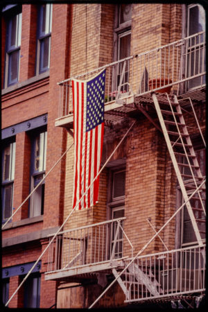 American Flag Hung on Unknown Fire Escape.jpg