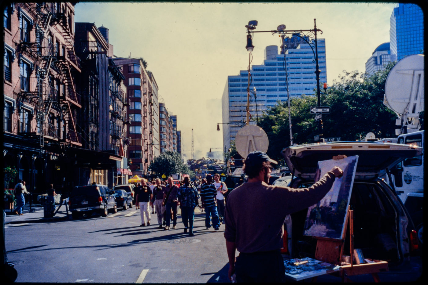 An Unknown Artist Captures the Scene Near Greenwich and Duane Streets as Fellow New Yorkers Pass.jpg