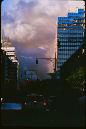 Clouds of Smoke on Greenwich Street as Traffic Moves North.jpg