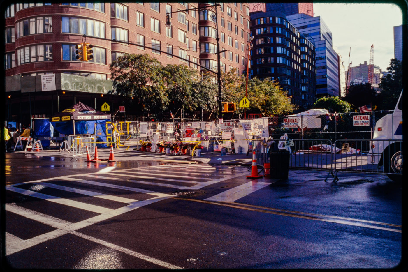 Construction and Barricades on Chambers and Hudson, Facing Northeast Corner.jpg