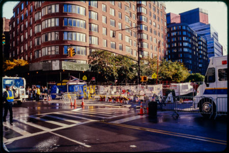 Construction at Chambers and Hudson Streets, Barricades and Cones.jpg