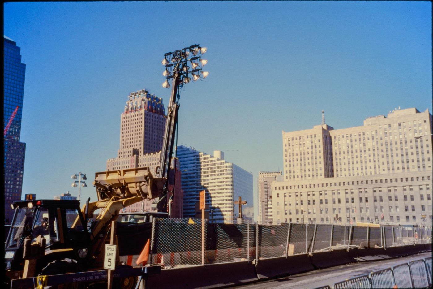 Construction Vehicles at WTC, Barren Space.jpg
