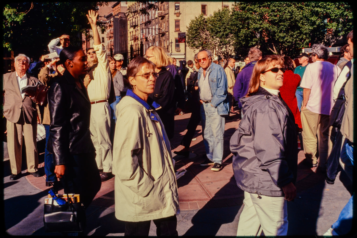 Crowd of New Yorkers and Pedestrians at Chambers and Hudson Facing North.jpg