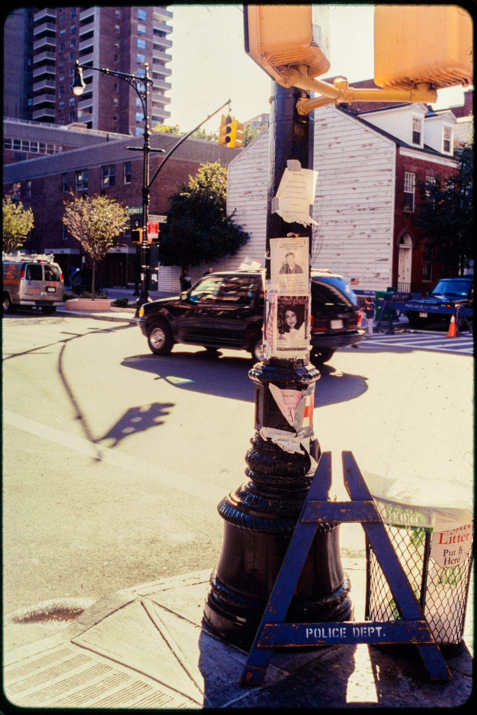 Memorial or Missing Loved Ones Light Post at Greenwich and Harrison Streets.jpg