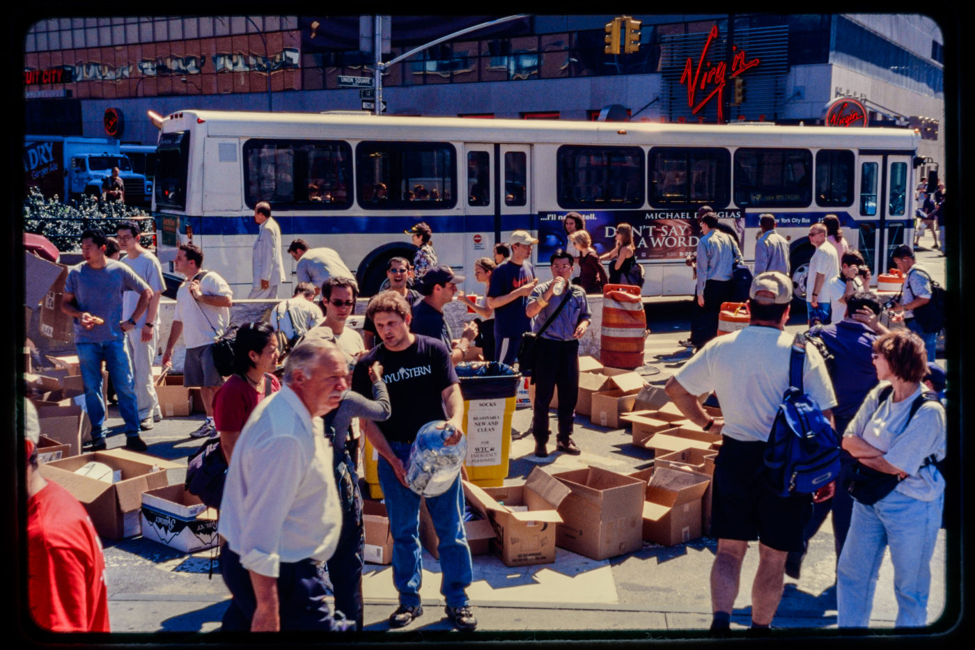 New Yorkers Fill Boxes With Relief Supplies for WTC Emergency Workers in Union Square.jpg