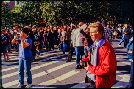 New Yorkers Stop In Road, Crowds Witness Construction Near Chambers and Hudson Streets.jpg