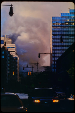 Smoke Filling the Sky Making it Dark as Night from Greenwich Street during the Day.jpg