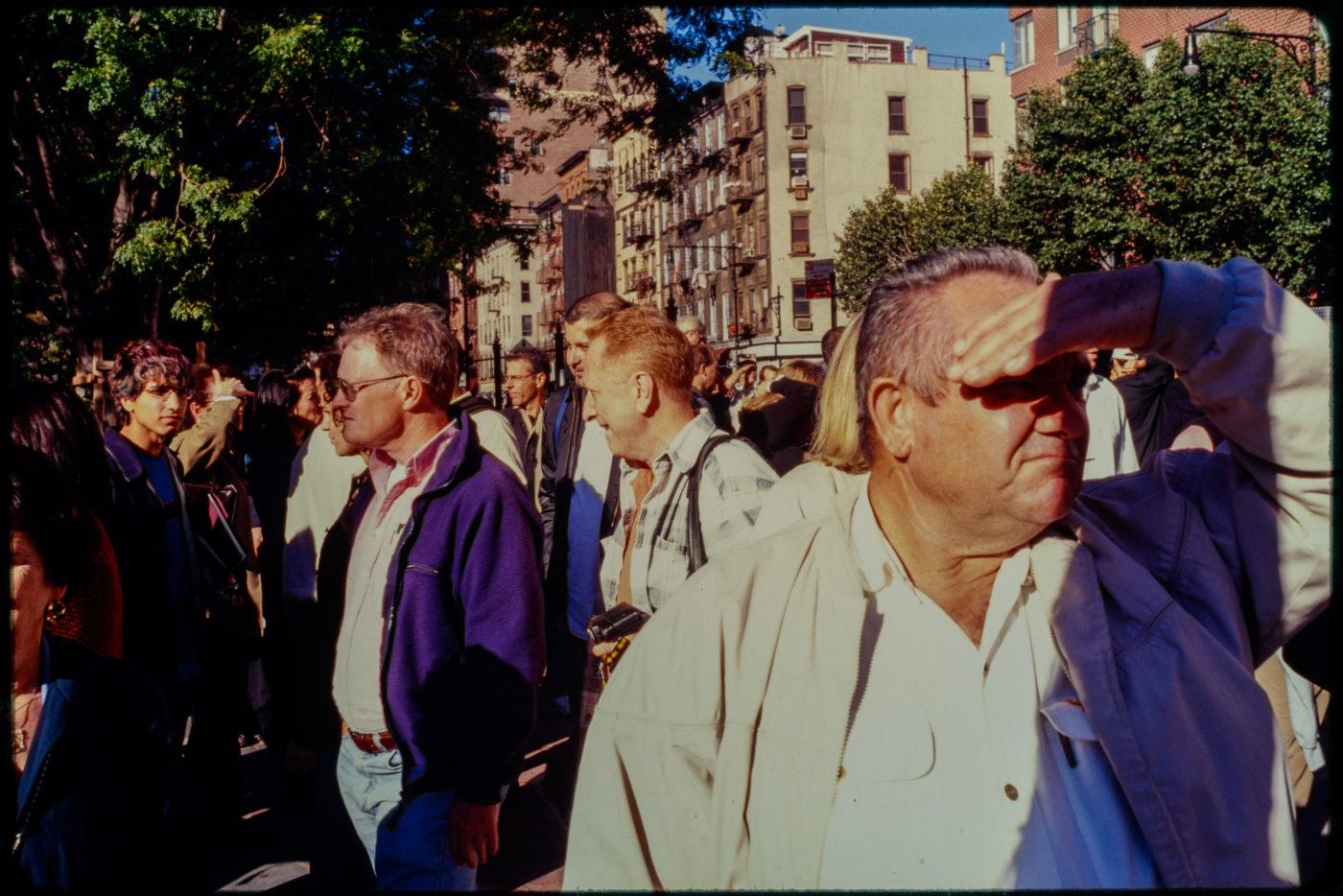 Sun Beams on Crowds of New Yorkers on Chambers Street.jpg