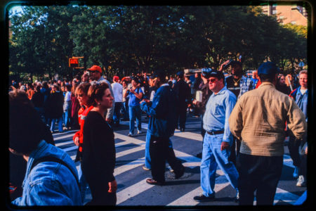 Tons of New Yorkers and Pedestrians Near Hudson and Chambers Streets.jpg