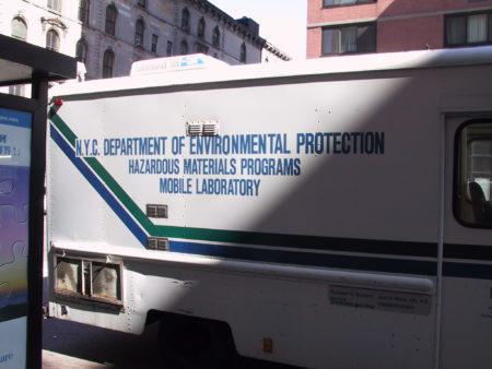 Closeup of NYC Enviormental Protection Van.JPG