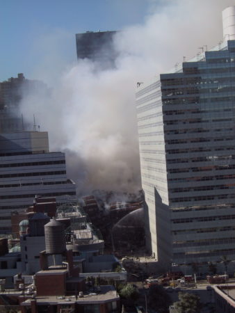 Collapsed WTC 7 from 335 Greenwich Street.JPG
