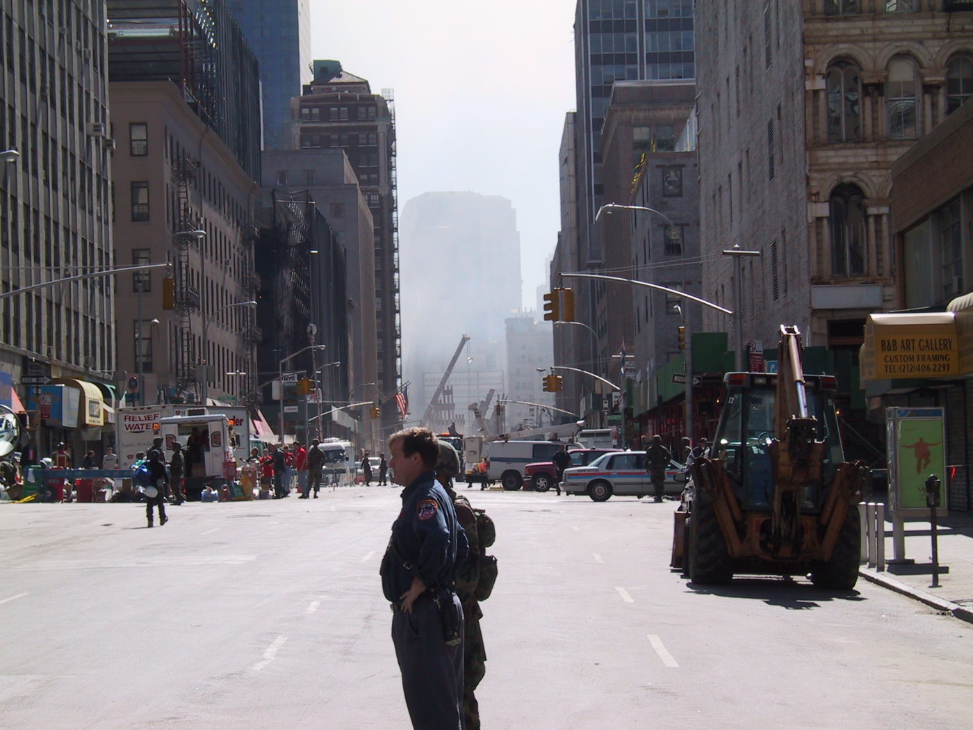 Looking South Toward WTC from Church and Duane Streets.JPG