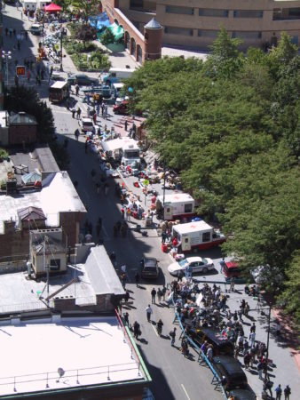 Red Cross Emergency Stations Set Up on Greenwich Street.JPG