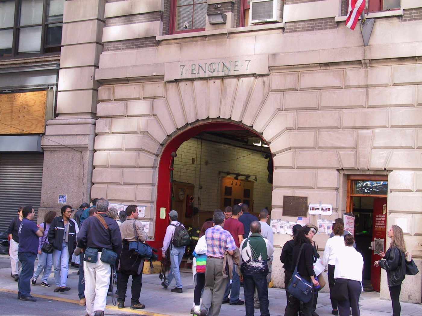 Reporters Gather Outside of Engine 7.JPG