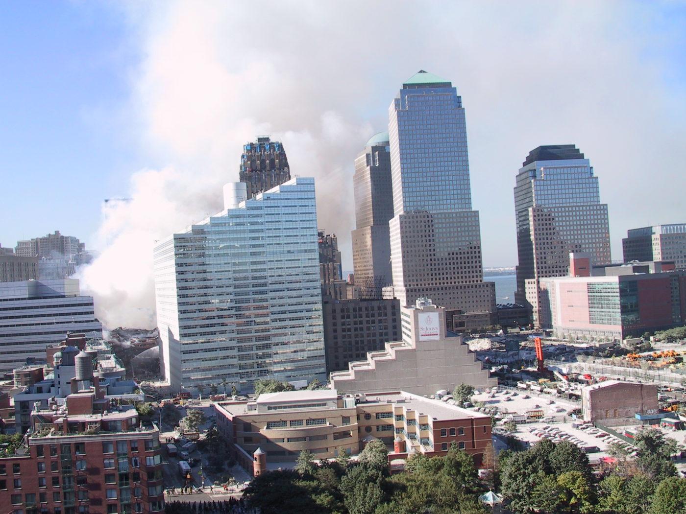 Smoke Rising over 275 Greenwich Street, 200 Vesey St, WTC 3 _ 2.JPG