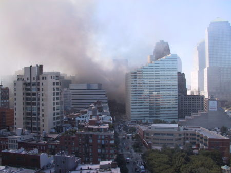Smoke Rising Up from Ground Zero as seen from 335 Greenwich Street.JPG