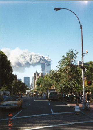 Crowds Gather Near Father Demo Triangle as New Yorkers Watch The Towers Burn.jpg