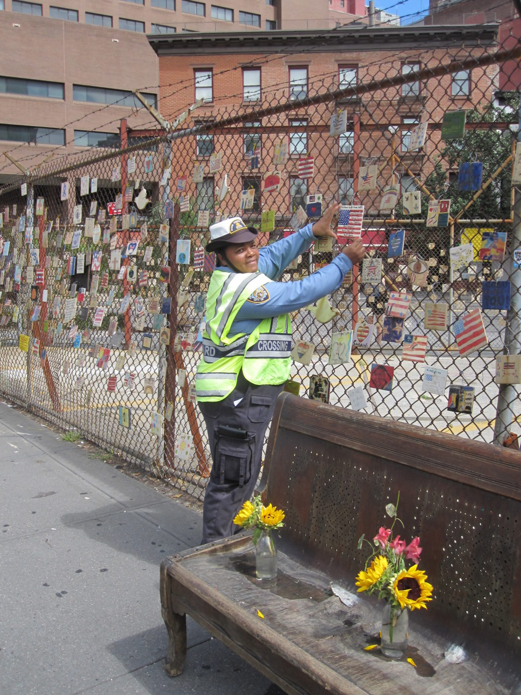 NYPD Helping to reinstall 9-11 Tiles 09_07_2011.JPG