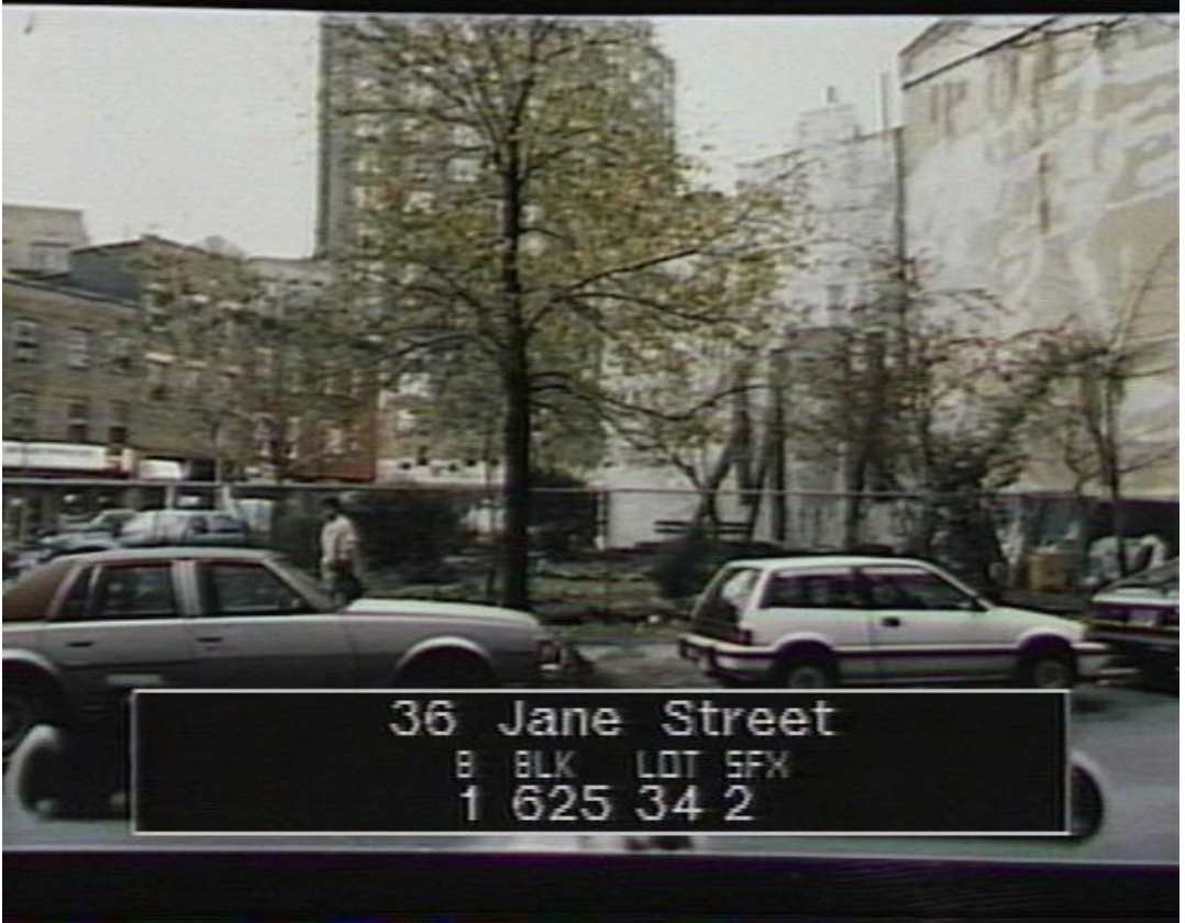 36 Jane St Open Space Demolished Buildings , 1980