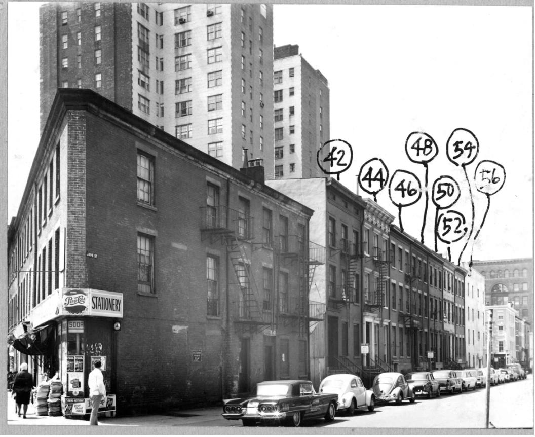 Corner of 8th Avenue and Jane Street 1964, (2)