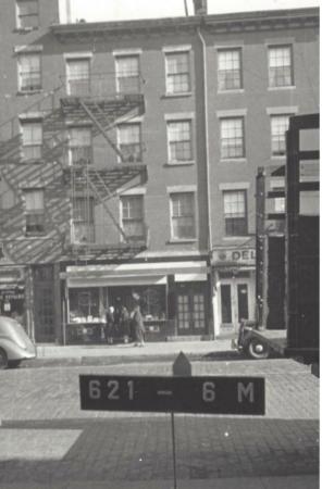 548 Hudson St, 1940s Tax Photo