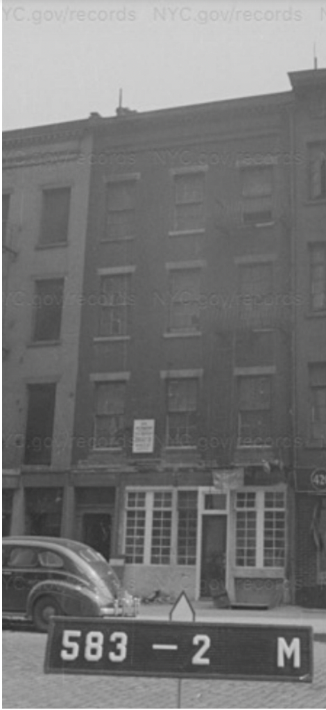 422 Hudson St, 1940s Tax Photo