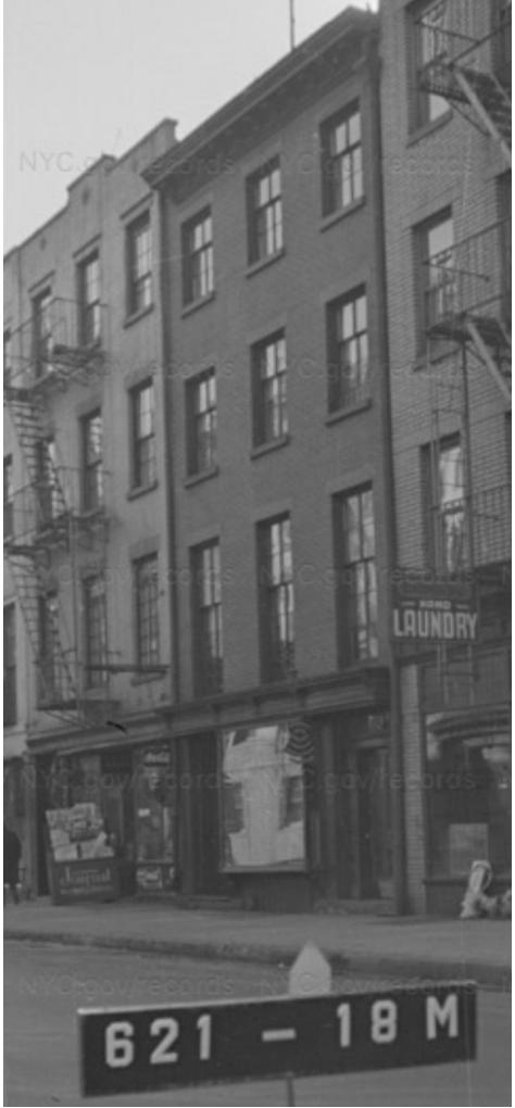 380 Bleecker St, 1940s Tax Photo