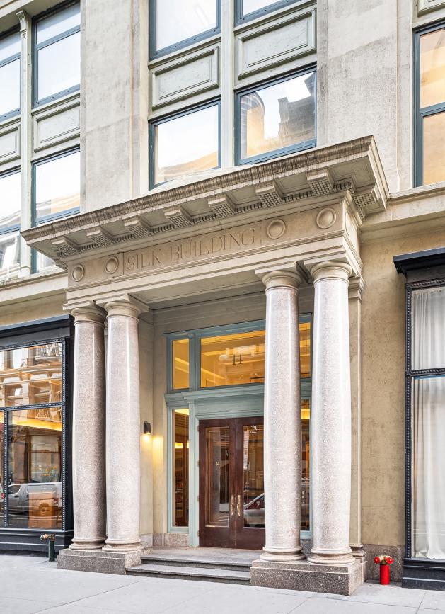Entrance, Silk Building, 14 East 4th Street