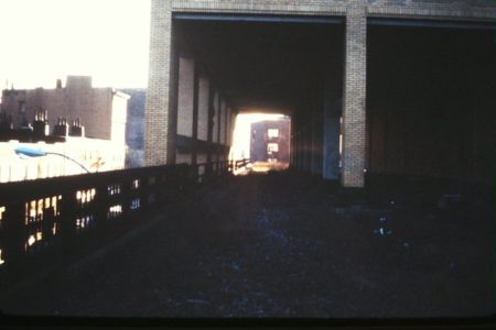View on the High Line looking south from Bethune Street through Westbeth (former Bell Telephone Labs) to West Village Houses.jpg