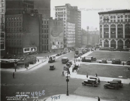 View of Houston and The Cable Building from Mulberry St, 1933